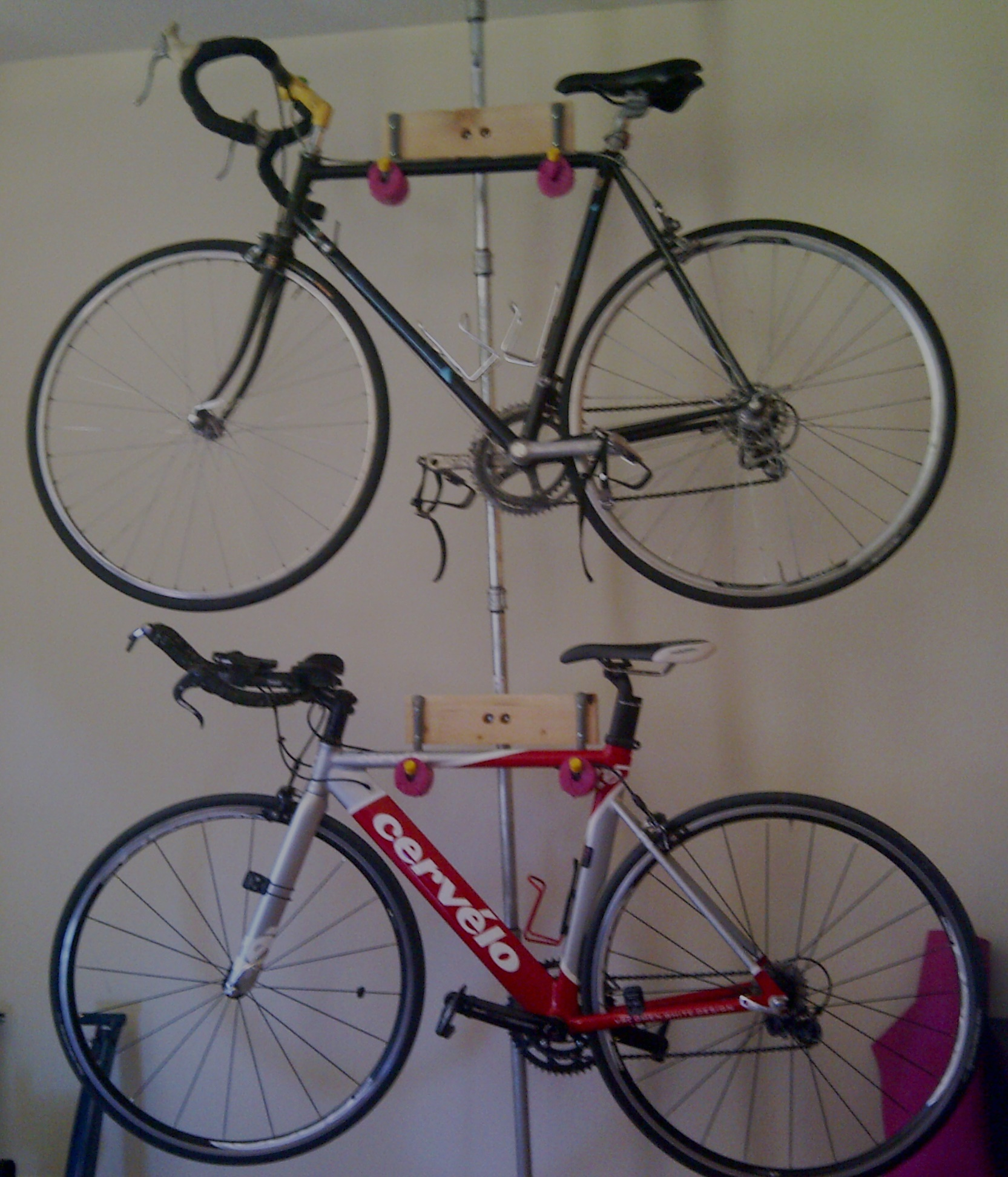 diy bike london invited rack ceiling